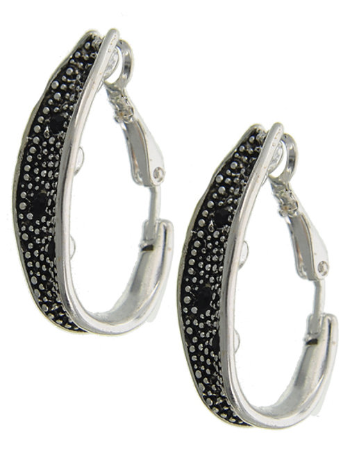 Black Ice Clip-On Earrings