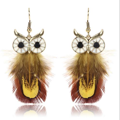 Owl Feather Earrings