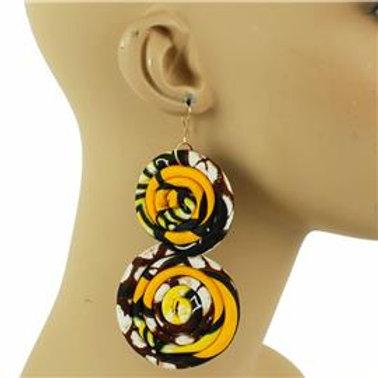 African Swirl Print Earrings