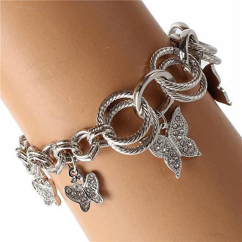 Silver Butterfly Chain Bracelet