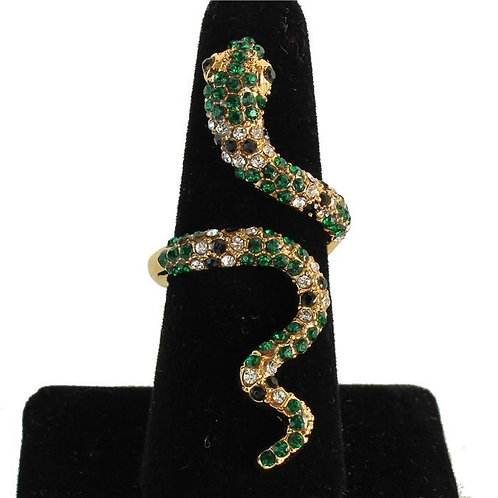 Fashion Rhinestone Snake Ring
