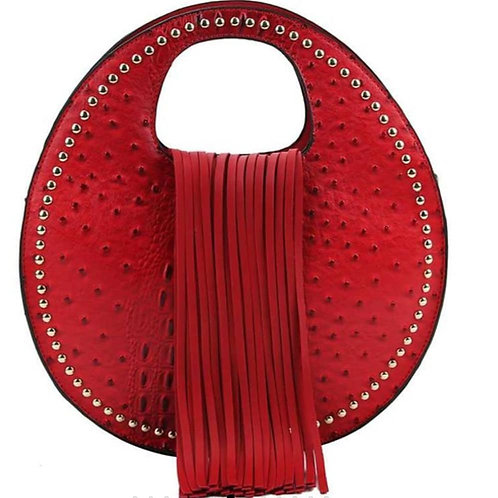 Faux Leather Croc Handbag