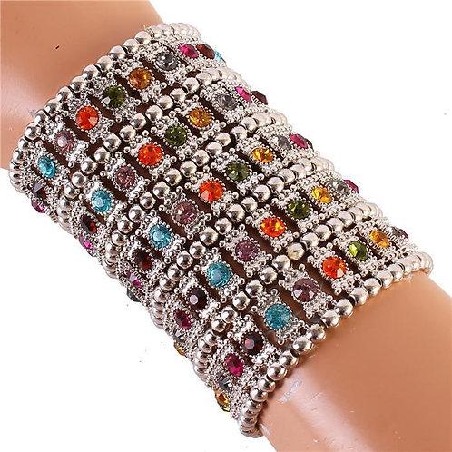 Crystal Metal Stretch Bracelet