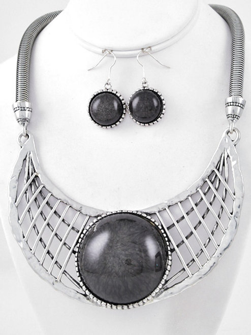 Eye of the Storm Statement Necklace