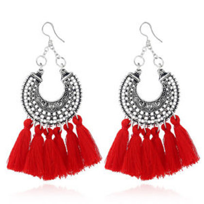 Metal Earrings with tassels