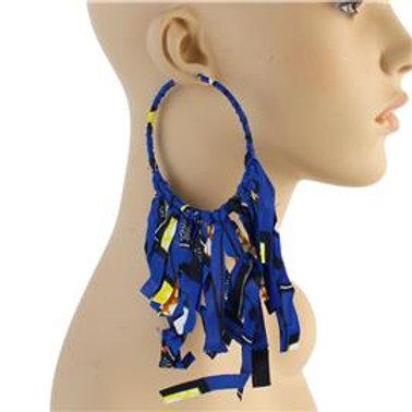 Fashion Print Hoop Earrings