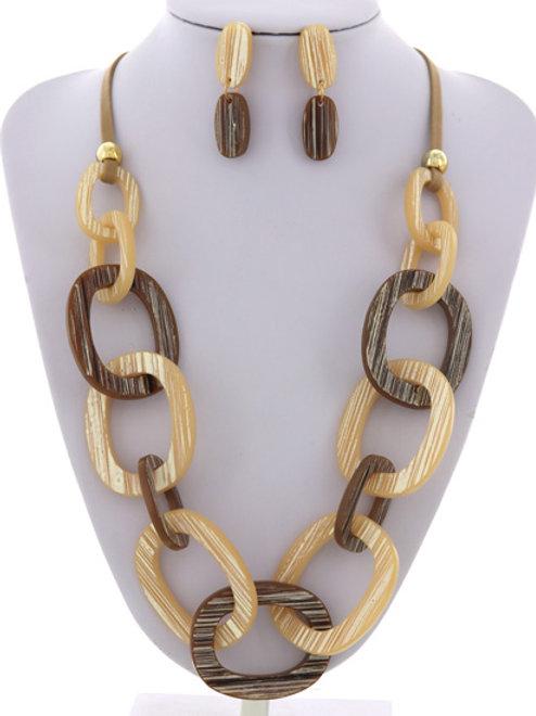 Acrylic Chain Necklace Set