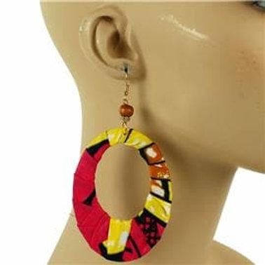 Tribal Print Fabric Earrings