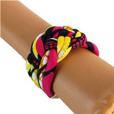 African Print Twist Bracelet