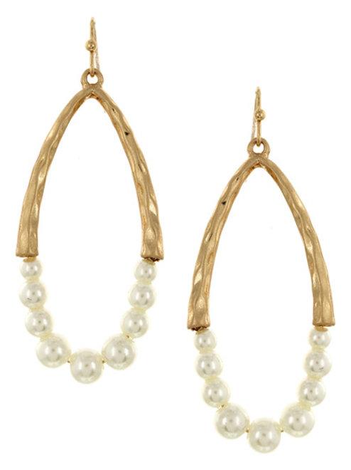 Golden Pearl Girl Earrings