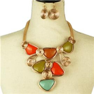 Fashion Metal Necklace Set