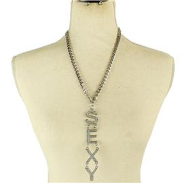 Metal Long Chain Sexy Necklace