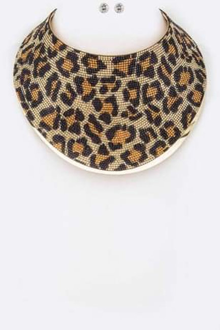 Gold Leopard Collar Necklace