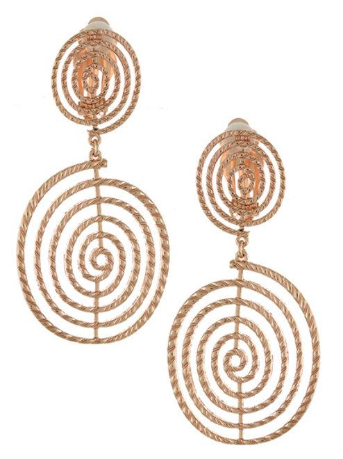 Swirl Girl Clip-On Earrings