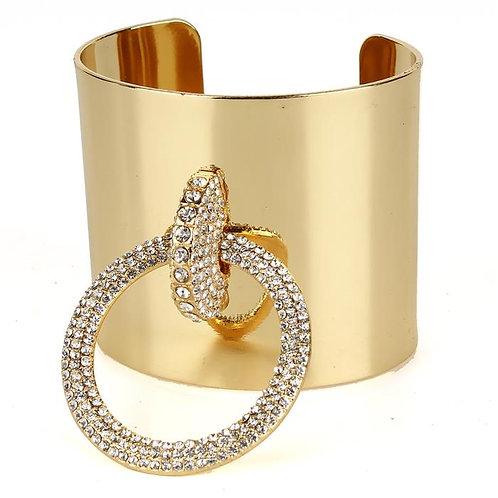 Metal Rhinestone Cuff Bracelet
