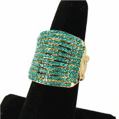 Rhinestone Stretch Layered Ring