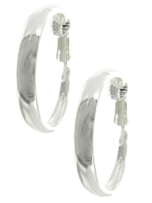 Silver Shadow Clip-On Earrings
