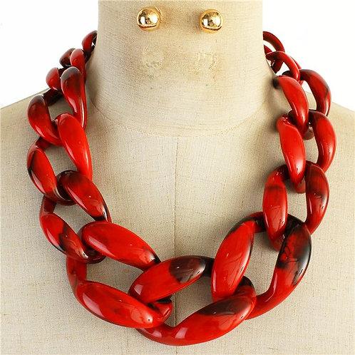 Large Acrylic Link Necklace