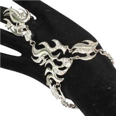 Metal Flame Hand Chain