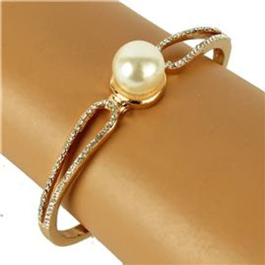 Metal Pearl Bangle