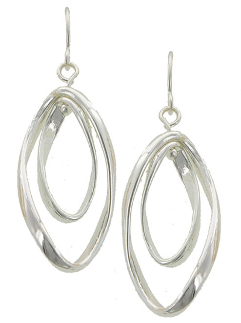Twisted Silver Earring Set