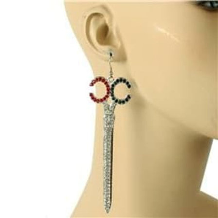 Crystal Scissor Dangle Earrings