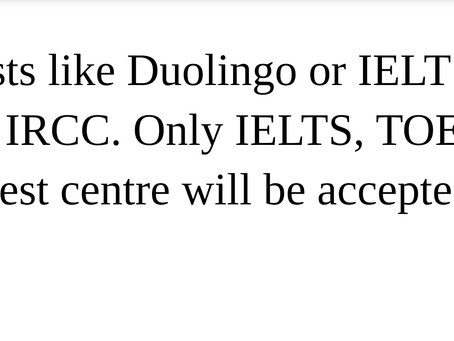Is Duolingo accepted in place of IELTS for study in Canada?Unless it is online classes!!