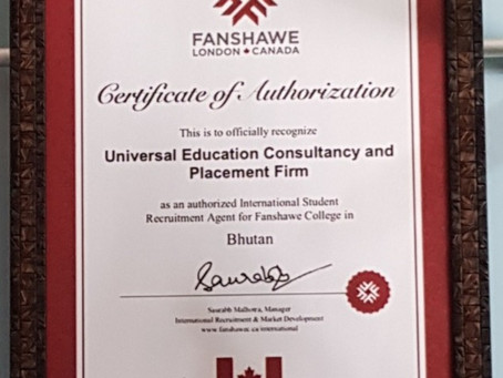 MoU signed with Fanshawe, Toronto, Canada