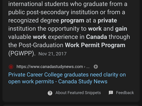 """Attention!!""Canada Work Permit Eligibility after studies"