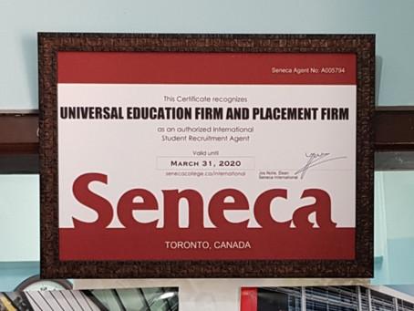 MoU with Seneca, Toronto, Canada.