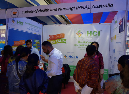 IHNA, Australia Officials during the Bhutan International Education Fair 2019