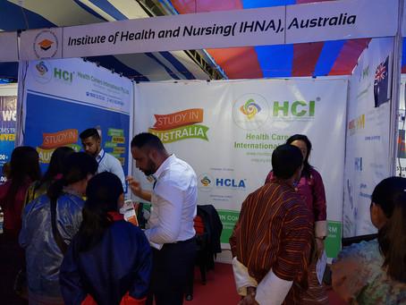 IHNA, Australia Officials during the Bhutan International Education Fair 2019