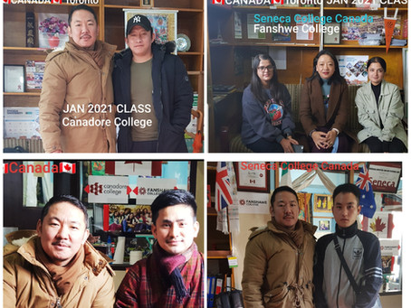 Students from Seneca, Canadore & Fanshawe College for the January 2021 , Toronto, Canada