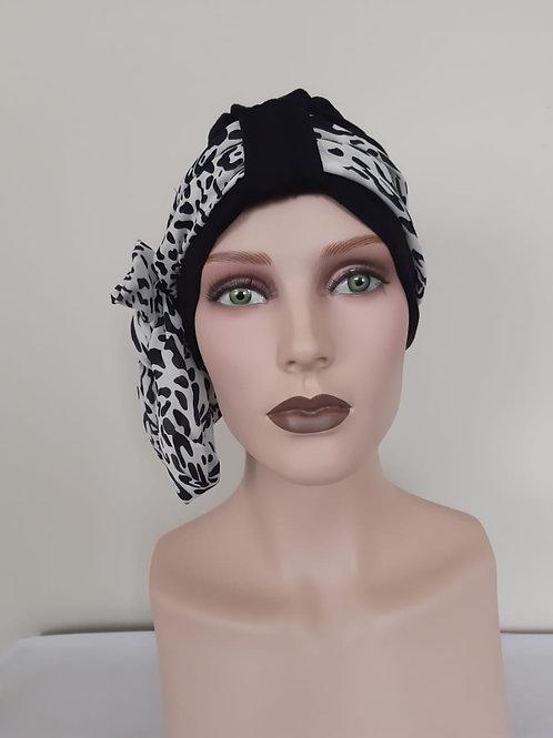 Turbante  de bambú con pañuelo, para personas que esten pasando por un tratamiento de quimioterapia o radioterapia