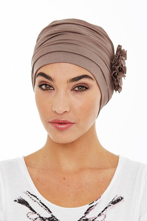 lindo turbante para oncología en tela de bambú ,muy suave para pieles sensibles
