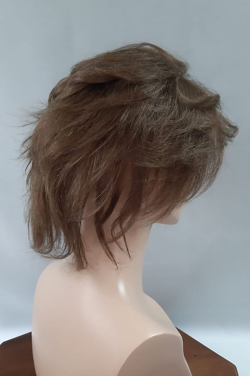 voluminizador de cabello natural para disimular alopecia difusa en color CASTAÑO CLARO (N#8-B)