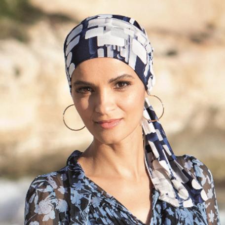Turbante para pacientes oncológicos, suave y en tela de bambú para pieles muy sensibles