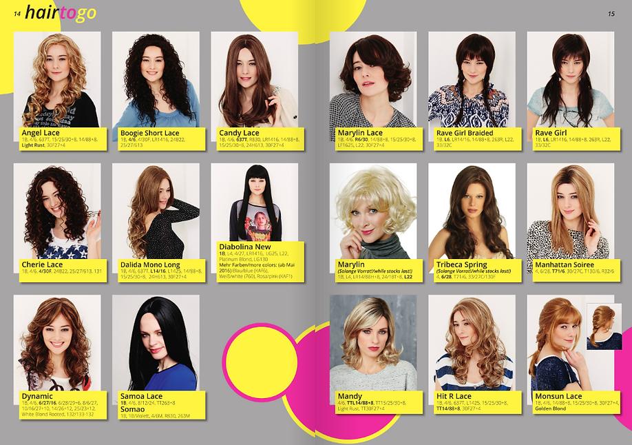 diversos modelos de pelucas para ocasiones especiales