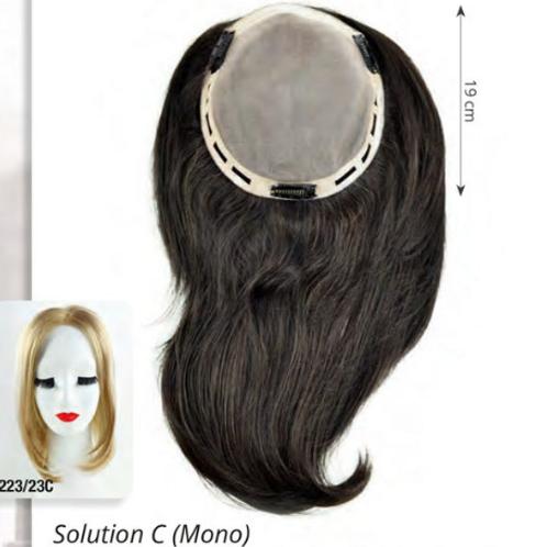 """SOLUCION """"C"""" MONO HUMAIN HAIR HH"""