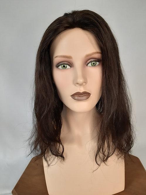 """Peluca de cabello natural """"Silvia"""" monofilamento y lace front"""