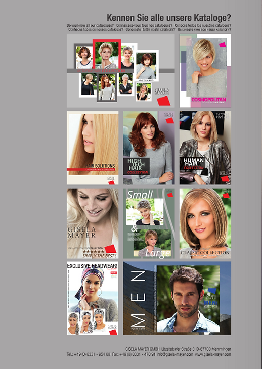 catálogos de pelucas sintéticas