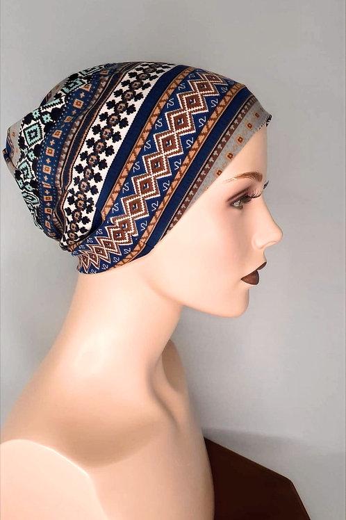 turbante de algodón estampado