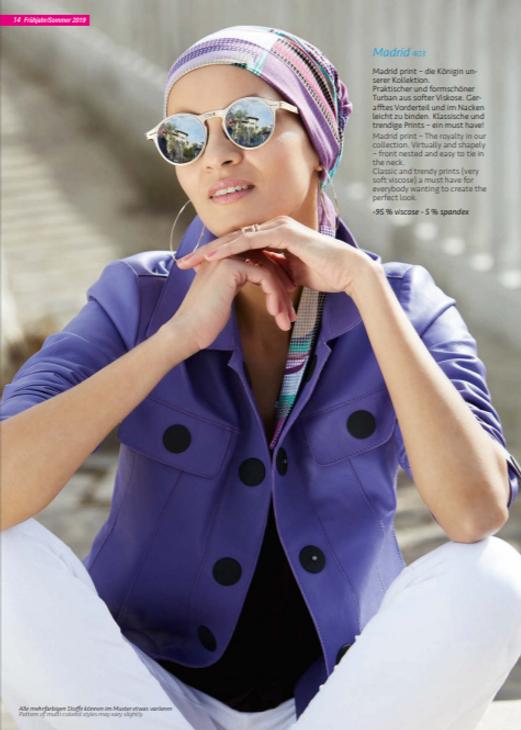 Turbante Oncológicos Su diseño esta especialmente creado para cubrir todas las zonas afectadas por la alopecia causada por los tratamientos de quimioterapia y radioterapia  Lima - Perú.