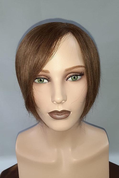 topper de cabello natural para confundir con el cabello de uno mismo , en castaño mediano