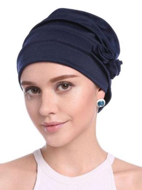 turbante acrílico color azul marino