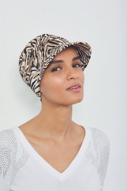 Gorrita-turbante en tela de bambú, oncológicos para pieles sensibles