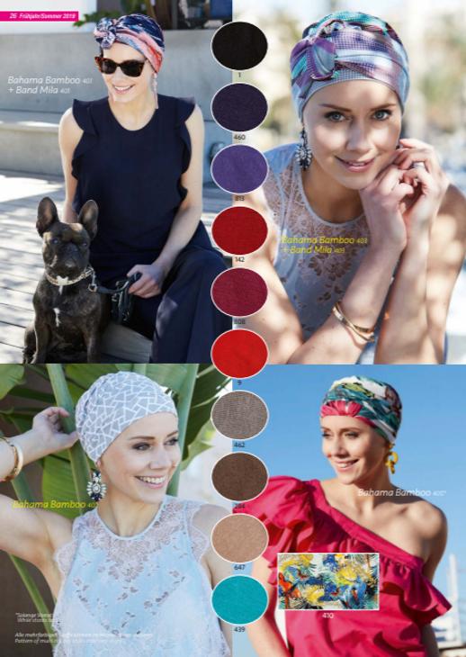 Turbante Oncológico en tela e Bambú,muy suave su diseño esta especialmente creado para cubrir todas las zonas afectadas por la alopecia causada por los tratamientos de quimioterapia y radioterapia  Lima - Perú.