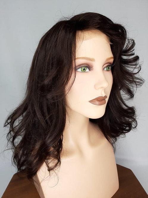 cabello humano castaño natural