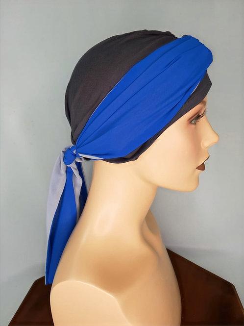 lindo turbante para combinar con pañuelos , para casos de alopecia o calvicie