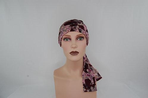 turbante de tela de bambú en tonos palo rosa para pieles sensibles